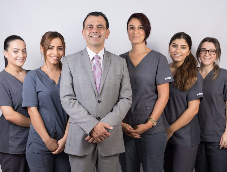 Dr Imad Eltenn and staff