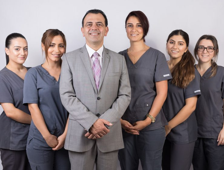 Dr Imad Mark Eltenn and staff